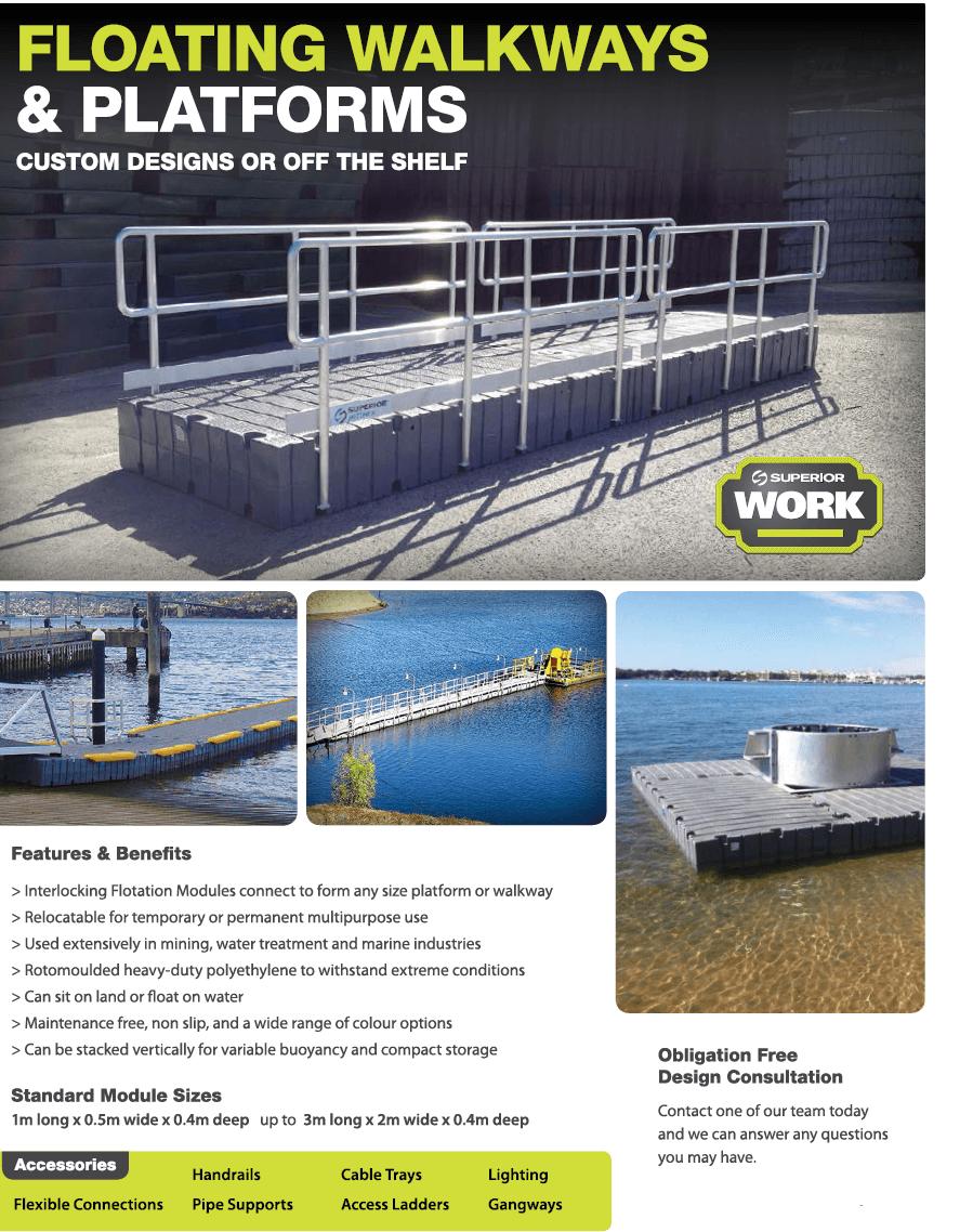 UMD Floating Walkways - Marine Products Australia